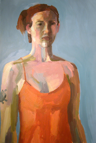 """Self-portrait"" is copyright  ©  2004 by Kate Kern Mundie. All rights reserved.  Reproduction prohibited."